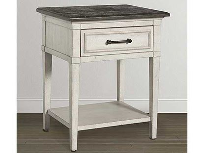 Picture of Bella Stone Top Bedside Table